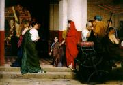 Alma-tadema; Sir Lawrence (1836-1912) Acrylic Prints - Entrance to a Roman Theatre Acrylic Print by Sir Lawrence Alma-Tadema