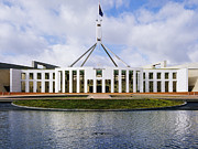 Canberra Prints - Entrance to Australian Parliament Building Print by Jeremy Woodhouse