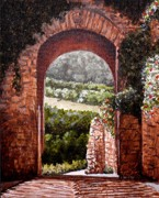 Italian Landscape Prints - Entrance to  Eden Print by Al  Molina