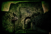 Vintage Gatehouse Framed Prints - Entrance To Lewes Castle Framed Print by Chris Lord