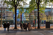 Crosswalk Framed Prints - Entrance to Musee Branly in Paris in autumn Framed Print by Louise Heusinkveld