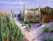 Beach Fence Posters - Entrance to Nantasket Poster by Laura Lee Zanghetti
