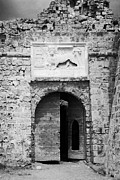 Gazimagusa Prints - Entrance To Othello Tower In Old City Walls Looking Out To The Harbour Famagusta  Print by Joe Fox
