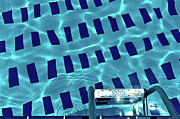Water Swimming Pool Posters - Entrance To Pool Poster by Daniel Kulinski