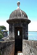 El Morro Digital Art - Entrance to Sentry Tower Castillo San Felipe Del Morro Fortress San Juan Puerto Rico Poster Edges by Shawn OBrien