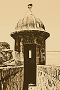 Puerto Rico Digital Art Prints - Entrance to Sentry Tower Castillo San Felipe Del Morro Fortress San Juan Puerto Rico Rustic Print by Shawn OBrien