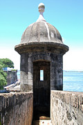Puerto Rico Metal Prints - Entrance to Sentry Tower Castillo San Felipe Del Morro Fortress San Juan Puerto Rico Metal Print by Shawn OBrien