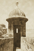 Puerto Rico Digital Art Prints - Entrance to Sentry Tower Castillo San Felipe Del Morro Fortress San Juan Puerto Rico Vintage Print by Shawn OBrien