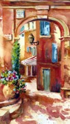 Provence Village Prints - Entrance to St. Remy Print by Jacqueline  Newbold