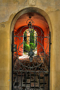 Gate Photograph Posters - Entrance To Stucco Home Poster by Steven Ainsworth