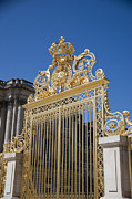 Palace Of Versailles Prints - Entry gate to Palace of Versailles Paris France Print by Jon Berghoff