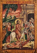 Icon Byzantine Posters - Entry of Christ into Jerusalem  Poster by Camelia Apostol