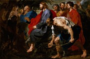 Crowds Paintings - Entry of Christ Into Jerusalem by Sir Anthony Van Dyck