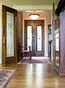 Wood Floors Prints - Entryway of Home Print by Andersen Ross