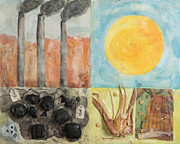 Coal Mixed Media Prints - Envision A  New Source Print by Vicki Basta