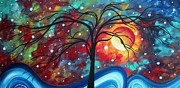 Design Paintings - Envision the Beauty by MADART by Megan Duncanson