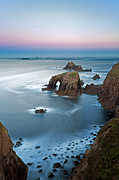 Rugged Coast Framed Prints - Enys Dodman and the Armed Knight long exposure. Framed Print by Richard Thomas