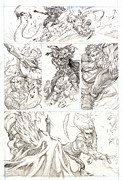 Lord Drawings Metal Prints - Eowyn vs. Nazgul pg 2 Metal Print by Storn Cook