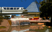 Walt Disney World Digital Art - Epcot Scenic by David Lee Thompson