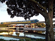 Tron Photos - Epcot TRON Monorail by Carol  Bradley - Double B Photography