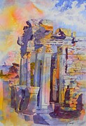 Warren Thompson Art Prints - Ephesus Ruins Print by Warren Thompson