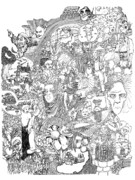 Mardi Drawings - Epic 2011 by Steve  Hester