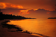 Sunset Light Photos - Epic Sunset in the Tropical Maldivian Island by Jenny Rainbow