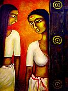 Kerala Paintings - Equals by Raji Chacko