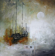 Asian Art Paintings - Equilibrium by Vital Germaine