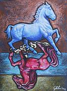 Japan Pastels Framed Prints - Equus Framed Print by Jennifer Uher