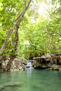 Amazing Originals - Erawan Waterfall in deep forest Waterfall in Kanchanabur by Anek Suwannaphoom