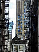 New York City Fire Escapes Photos - Erected 1869  by Sarah Loft