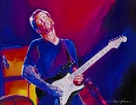 Hand Painting Metal Prints - Eric Clapton - Crossroads Metal Print by David Lloyd Glover