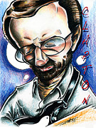Big Mike Roate Drawings Framed Prints - Eric Clapton Framed Print by Big Mike Roate