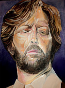 Guitar God Painting Originals - Eric Clapton by Merv Scoble
