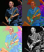 Clapton Digital Art - Eric Clapton Pop by Tommy Anderson