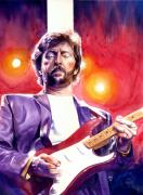 Guitarists Paintings - Eric Clapton Stripe by Ken Meyer jr