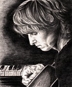 Famous People Drawings - Eric Johnson by Kathleen Kelly Thompson
