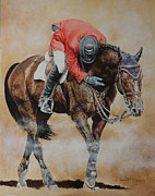 Show Horse Paintings - Eric Lamaze and Hickstead by David McEwen