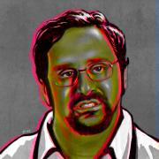 Celebrity Digital Art Framed Prints - Eric Wareheim Framed Print by Fay Helfer