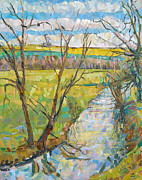 Meadow Paintings - Erin Townsend  by The Cherwell from Rousham II