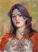 Boston Red Sox Painting Posters - Eriola Poster by Ylli Haruni