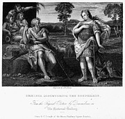 Pan Pipes Posters - Erminia And Shepherds Poster by Granger