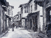 Forties Paintings - Ermou Street by Theo Michael