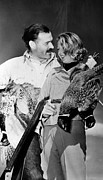 Pheasant Prints - Ernest Hemingway And Martha Gellhorn Print by Everett