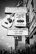 Nashville Downtown Prints - ernest tubbs record shop on broadway downtown Nashville Tennessee USA Print by Joe Fox
