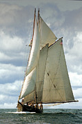 Sailboat Metal Prints - Ernestina Metal Print by Fred LeBlanc