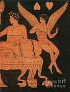 Illustration Of Love Prints - Eros, Greek God Of Love Print by Photo Researchers