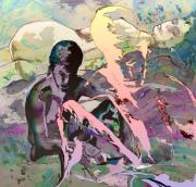 Eroscape 1009 Print by Miki De Goodaboom