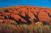 Badlands Painting Originals - Erosion by Shelly Leitheiser